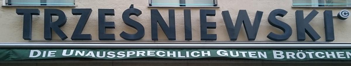 Schriftzug des Trześniewski in Wien - www.wien-erleben.com
