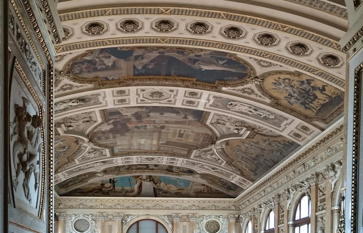 Burgtheater Wien - Decke Feststiege - www.wien-erleben.com