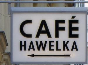 Hinweisschild zum Café Hawelka - www.wien-erleben.com