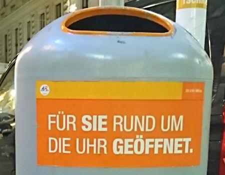 Beitragsbild Mistkübel in Wien - Für Sie rund um die Uhr geöffnet - www.wien-erleben.com