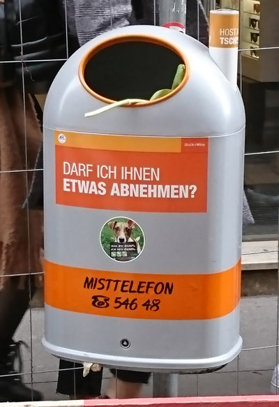 Mistkübel in Wien - darf ich ihnen etwas abnehmen - www.wien-erleben.com