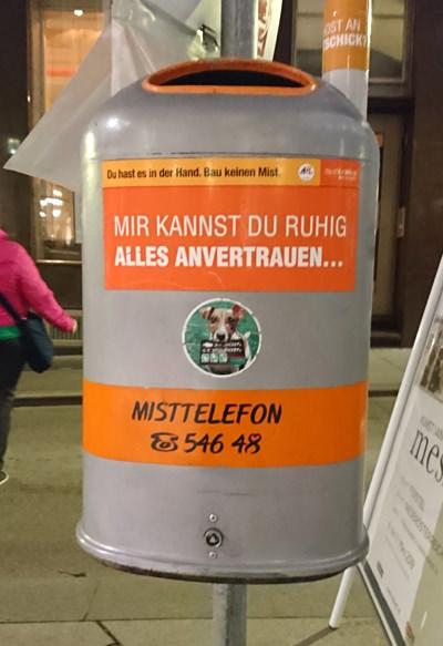 Mistkübel in Wien - Mir kannst du ruhig alles anvertrauen - www.wien-erleben.com