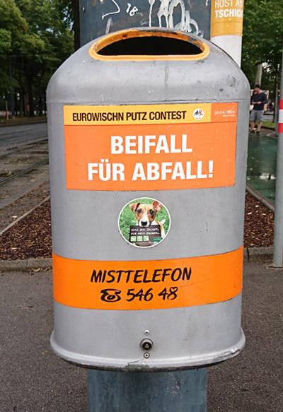 Mistkübel in Wien - Beifall für #Abfall - www.wien-erleben.com