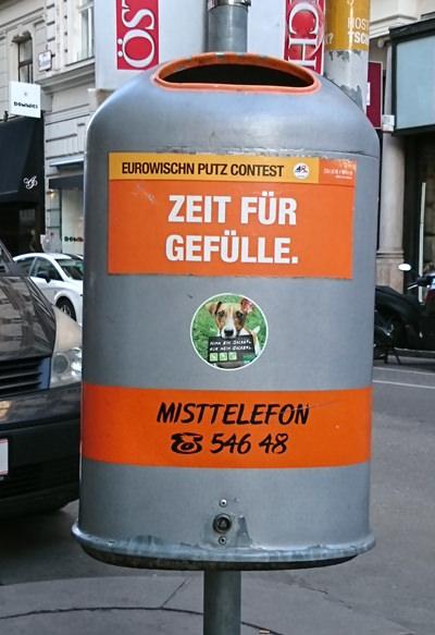 Mistkübel in Wien - Zeit für Gefülle - www.wien-erleben.com