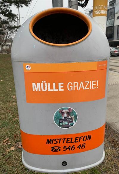 Mistkübel in Wien - Mülle Grazie - www.wien-erleben.com