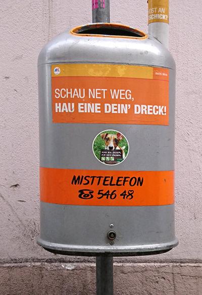 Mistkübel in Wien - hau eine dein Dreck - www.wien-erleben.com