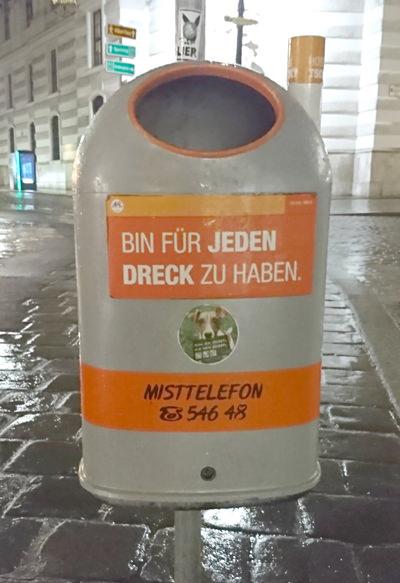 Mistkübel in Wien - Bin für jeden Dreck zu haben - www.wien-erleben.com