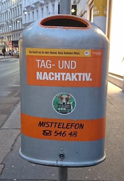 Mistkübel in Wien - Tag- und Nachtaktiv - www.wien-erleben.com