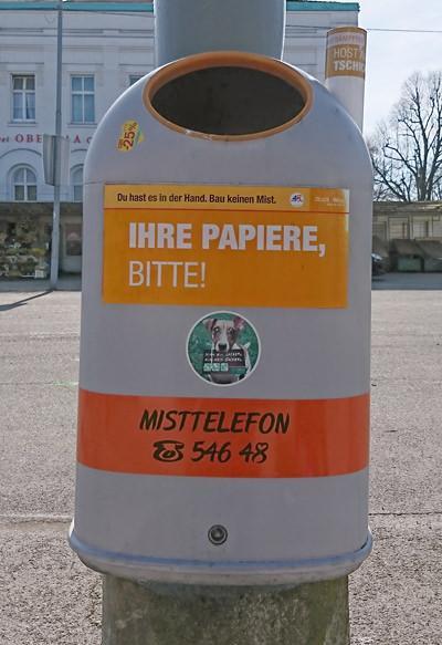 Mistkübel in Wien - Ihre Papiere bitte - www.wien-erleben.com