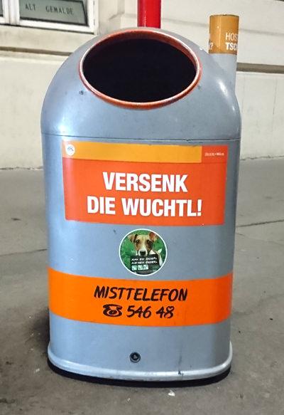 Mistkübel in Wien - Versenk die Wuchtl - www.wien-erleben.com