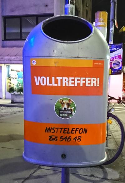 Mistkübel in Wien - Volltreffer - www.wien-erleben.com