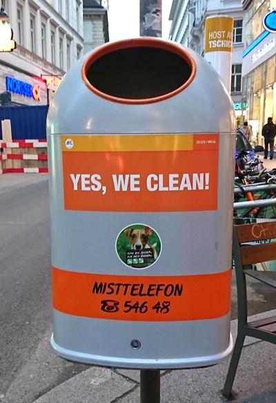 Mistkübel in Wien - Yes we clean II - www.wien-erleben.com