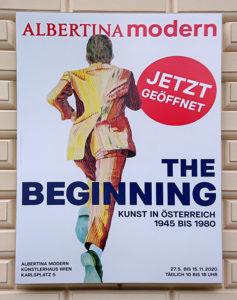Albertina Modern - Plakat The Beginning - www.wien-erleben.com
