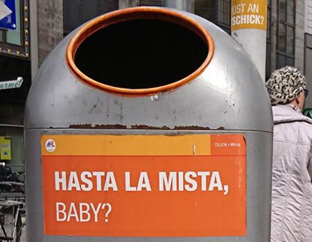 Beitragsbild Mistkübel in Wien - Hasta la Mista Baby - www.wien-erleben.com