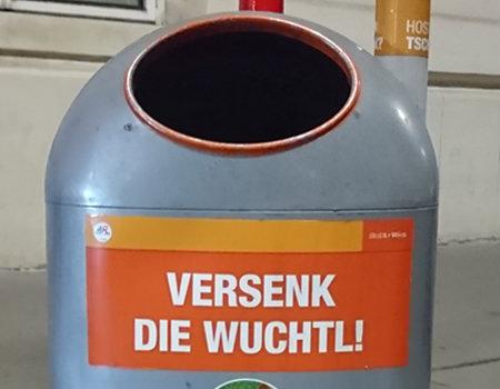 Beitragsbild Mistkübel in Wien - Versenk die Wuchtl - www.wien-erleben.com