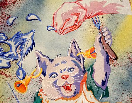 Beitrag über die Albertina Modern - Katze isst Arm - www.wien-erleben.com