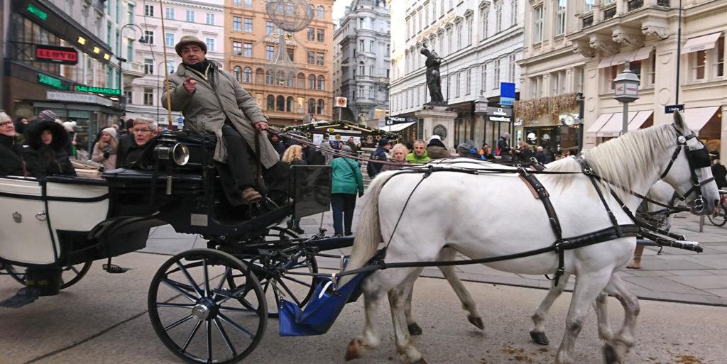 Fiaker in Wien am Graben - www.wien-erleben.com