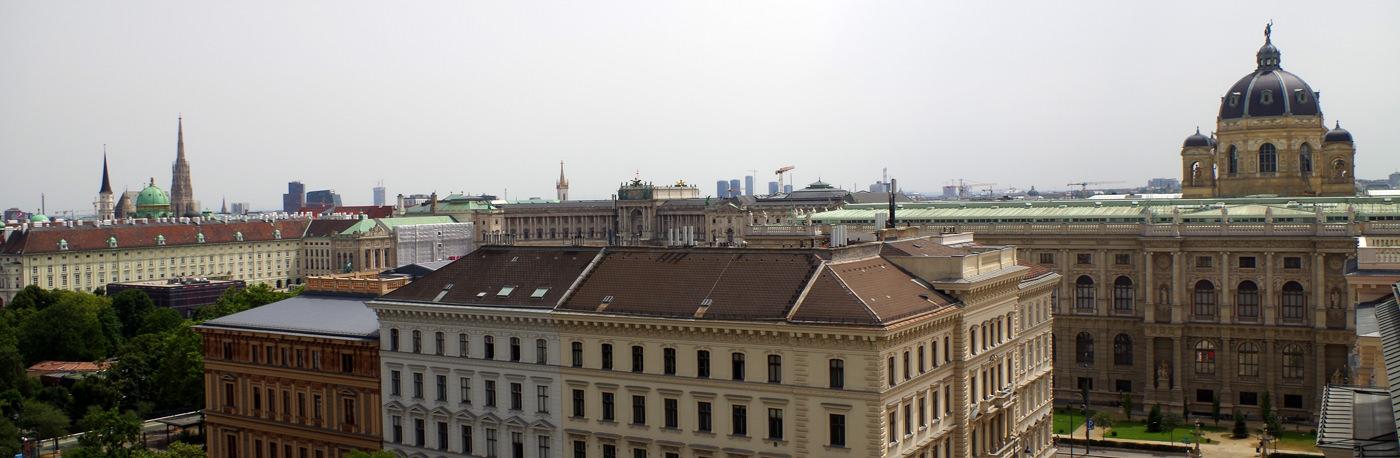 Justizpalast Wien - Ausblick auf das Kunsthistorische Museum bis zur Michaelerkirche - www.wien-erleben.com